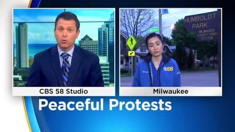 Peaceful protests continue into early Friday morning